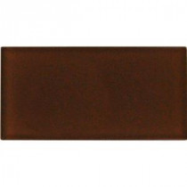 Cinnamon 3 in. x 6 in. Glass Wall Tile (1 sq. ft./ case)