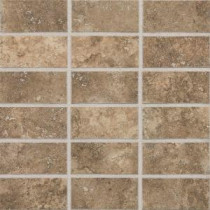 San Michele Moka Cross-Cut 12 in. x 12 in. x 8 mm Glazed Porcelain Mosaic Floor and Wall Tile