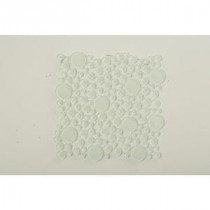 Contempo Bright White Circles 12 in. x 12 in. x 8 mm Glass Floor and Wall Tile