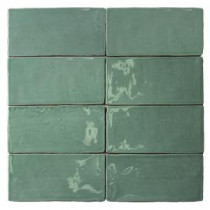 Catalina Green Lake 3 in. x 6 in. x 8 mm Ceramic Floor and Wall Subway Tile (8 Tiles Per Unit)