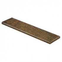 Tanned Hickory 94 in. L x 12-1/8 in. D x 1-11/16 in. H Laminate Right Return to Cover Stairs 1 in. Thick