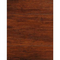 Handscraped Strand Woven Brown 1/2 in.Thick x 5-1/8 in.Wide x 72-7/8 in.Length Solid Bamboo Flooring (25.93 sq.ft./case)