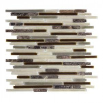 Brimstone 13 in. x 11.625 in. x 8 mm Glass/Stone Mosaic Wall Tile