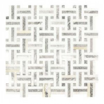 Windswept 13 in. x 13 in. x 8 mm Marble Mosaic Wall Tile
