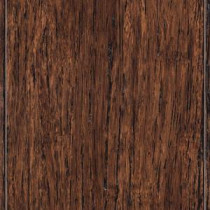 Brushed Strand Woven Tobacco 3/8 in. Thick x 3-7/8 in. Wide x 36-1/4 in. Length Solid Bamboo Flooring (23.41 sq.ft./cs)
