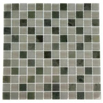 Contempo Ming White 12 in. x 12 in. x 8 mm Marble and Glass Mosaic Floor and Wall Tile