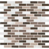 Arctic Storm 12 in. x 12 in. x 10 mm Honed Marble Mesh-Mounted Mosaic Floor and Wall Tile