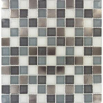 Diamond Cove 12 in. x 12 in. x 8 mm Glass Metal Mesh-Mounted Mosaic Tile