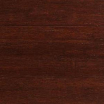 Strand Woven Dark Mahogany Click Lock Engineered Bamboo Flooring - 5 in. x 7 in. Take Home Sample