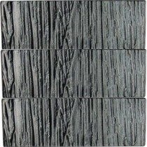 Subway 4 in. x 12 in. x 8 mm Glass Floor and Wall Tile