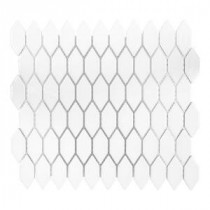 Dovetail White 10-3/4 in. x 12-1/8 in. x 8 mm Ceramic Mosaic Tile