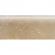 Sandalo Acacia Beige 2 in. x 6 in. Ceramic Bullnose Wall Tile