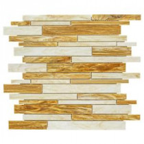 Cream Puff 11.75 in. x 14 in. x 8 mm Glass Mosaic Wall Tile