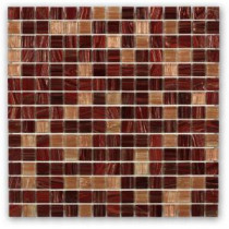 Pomegranate Martini 13 in. x 13 in. x 4 mm Glass Floor and Wall Mosaic Tile