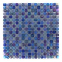 Capriccio Battipaglia 12 in. x 12 in. x 8 mm Glass Mosaic Floor and Wall Tile