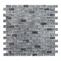 TI Metallic 12 in. x 12 in. x 8 mm Glass Mosaic Tile
