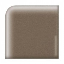 Keystones Unglazed Artisan Brown 2 in. x 2 in. Porcelain Round Outside Corner Floor and Wall Tile