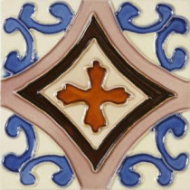 Hand-Painted Trebol Deco 6 in. x 6 in. Ceramic Wall Tile (2.5 sq. ft. / case)
