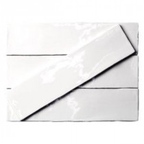 Catalina White 3 in. x 12 in. x 8 mm Ceramic Floor and Wall Subway Tile (4 Tiles Per Unit)