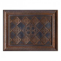 Castle Metals 12 in. x 16 in. Wrought Iron Metal Clover Mural Wall Tile
