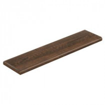 Hand Sawn Oak 47 in. Long x 12-1/8 in. Deep x 1-11/16 in. Height Laminate Left Return to Cover Stairs 1 in. Thick
