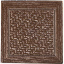 Montagna Bronze 2 in. x 2 in. Metal Resin Basketweave Decorative Floor/Wall Tile