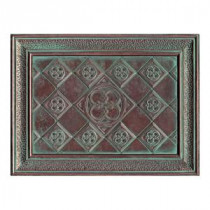 Castle Metals 12 in. x 16 in. Aged Copper Metal Clover Mural Wall Tile