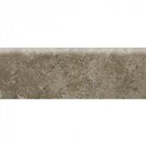 Heathland Sage 2 in. x 6 in. Glazed Ceramic Bullnose Wall Tile