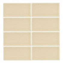 Summer Wheat Gloss 3 in. x 6 in. Ceramic Wall Tile