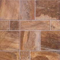 Amber Random Slate Laminate Flooring - 5 in. x 7 in. Take Home Sample