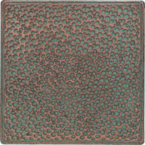 Castle Metals 4-1/4 in. x 4-1/4 in. Aged Copper Metal Insert B Accent Wall Tile