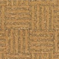 Natural Basket Weave Cork Flooring - 5 in. x 7 in. Take Home Sample