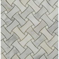 Pedigree Asian Statuary 11-1/2 in. x 11-1/4 in. x 10 mm Polished Marble Mosaic Tile