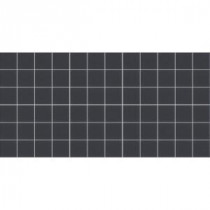 Keystones Unglazed Black 12 in. x 24 in. x 6 mm Porcelain Mosaic Floor and Wall Tile (24 sq. ft. / case)