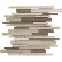 Truffle Stone Interlocking 12 in. x 12 in. x 8 mm Glass Stone Mesh-Mounted Mosaic Tile
