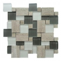 Opera Glass Bel Canto Light 12 in. x 12 in. x 7.9 mm Glass and Marble Mosaic Wall Tile (10 sq. ft. / case)