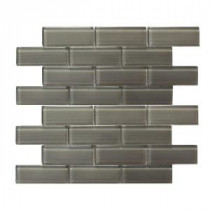 Mardi Gras Toulouse Pewter 12 in. x 12 in. x 6 mm Glass Mesh-Mounted Mosaic Tile (10 sq. ft. / case)