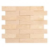 Terrain 11-3/4 in. x 10-3/8 in. x 8 mm Marble Mosaic Tile