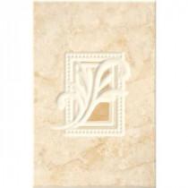 Illusione Beige 8 in. x 12 in. Ceramic Insert Wall Tile