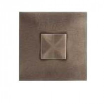 Urban Metals Bronze 2 in. x 2 in. Composite Dot Geo Wall Tile